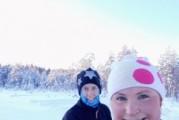 Talven teema hiihtoa ja kiirettä